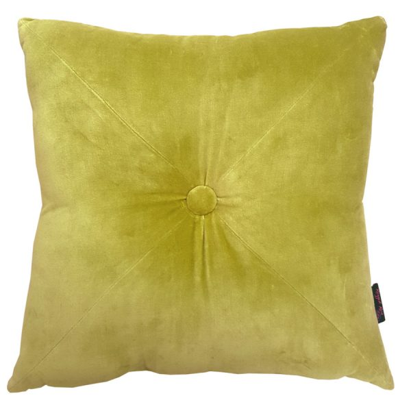 Velvet Cushion Lime Green