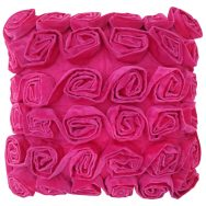 Rufus Ruffle Rose Cushion Pink