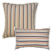 Orange Satin Stripe Cushion