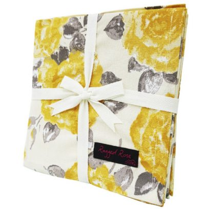 Natalie Napkins Golden Yellow Rose
