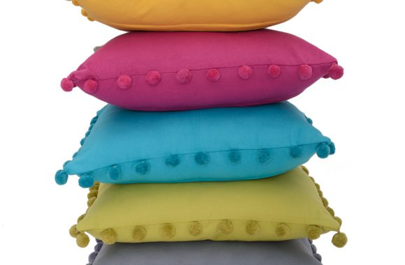 stack of bobby cushions