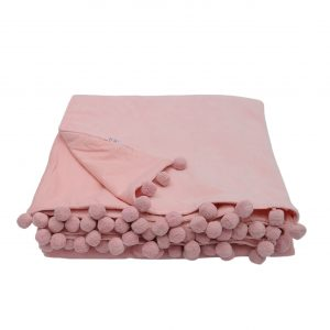 soft pink throw