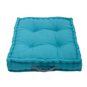 teal blue garden seat cushion