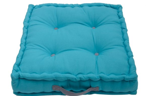 Jacky teal blue garden seat  and box cushion