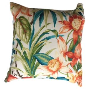 Showerproof Tiger Lily Garden Cushion