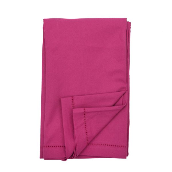 Plain magenta pink cotton Tablecloth