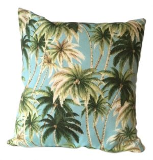 PALM TREE SHOWERPROOF GARDEN CUSHION