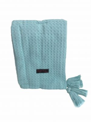 Duck Egg Blue Waffle Throw