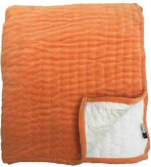 Orange Velvet Bedspread