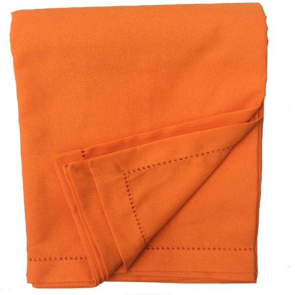 Orange Plain Tablecloth