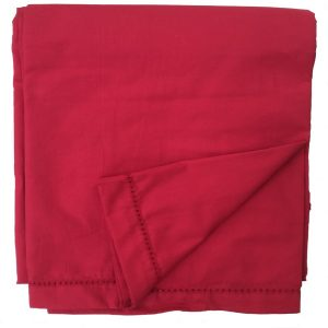 tessa red plain tablecloth