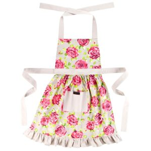 Taupe frilly apron