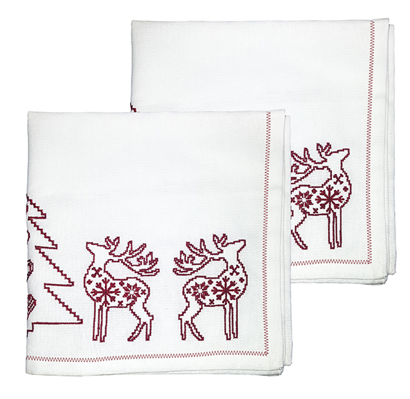 Embroidered Christmas Napkins