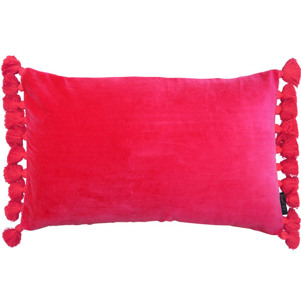 Terry Pink Velvet Tassel Cushion