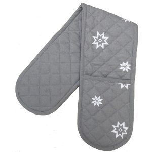 Christmas grey double oven glove