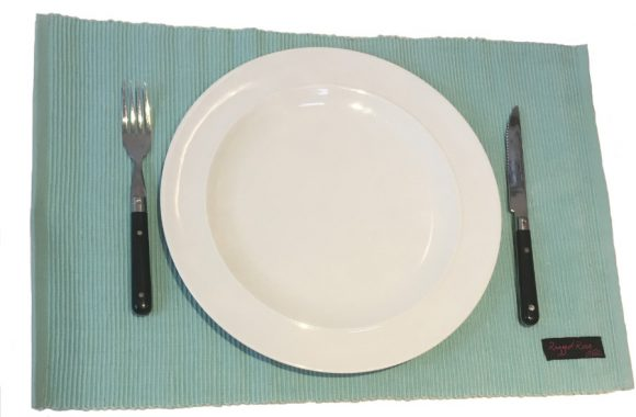 ribby duckegg blue  placemat