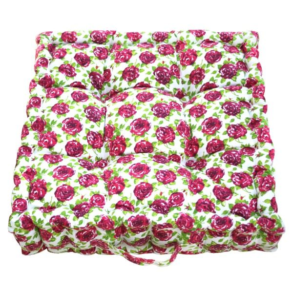 pink rose garden cushion