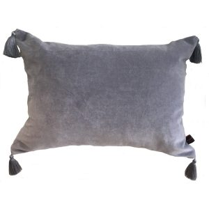 Silver Grey Velvet Cushion