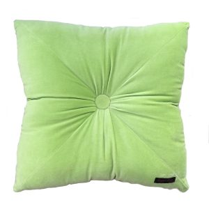 Velvet cushion neon green