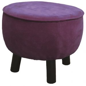Aubergine Velvet Foot Stool