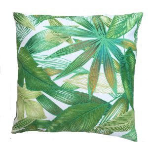 Showerproof Botanical Leaves Garden Cushion