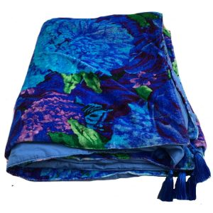 Pansy Velvet Throw