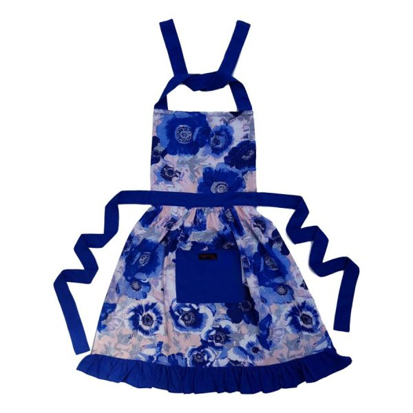 Betty Apron Blue Anemones