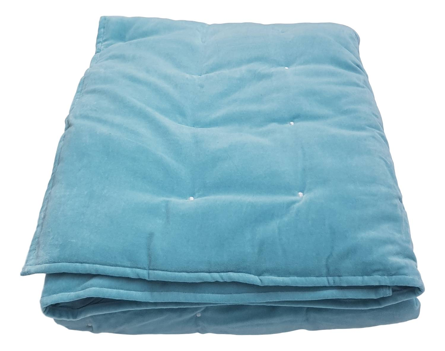 Duck Egg Blue Velvet Blanket