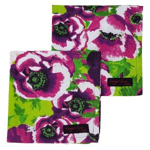 Purple Cotton Floral Napkins