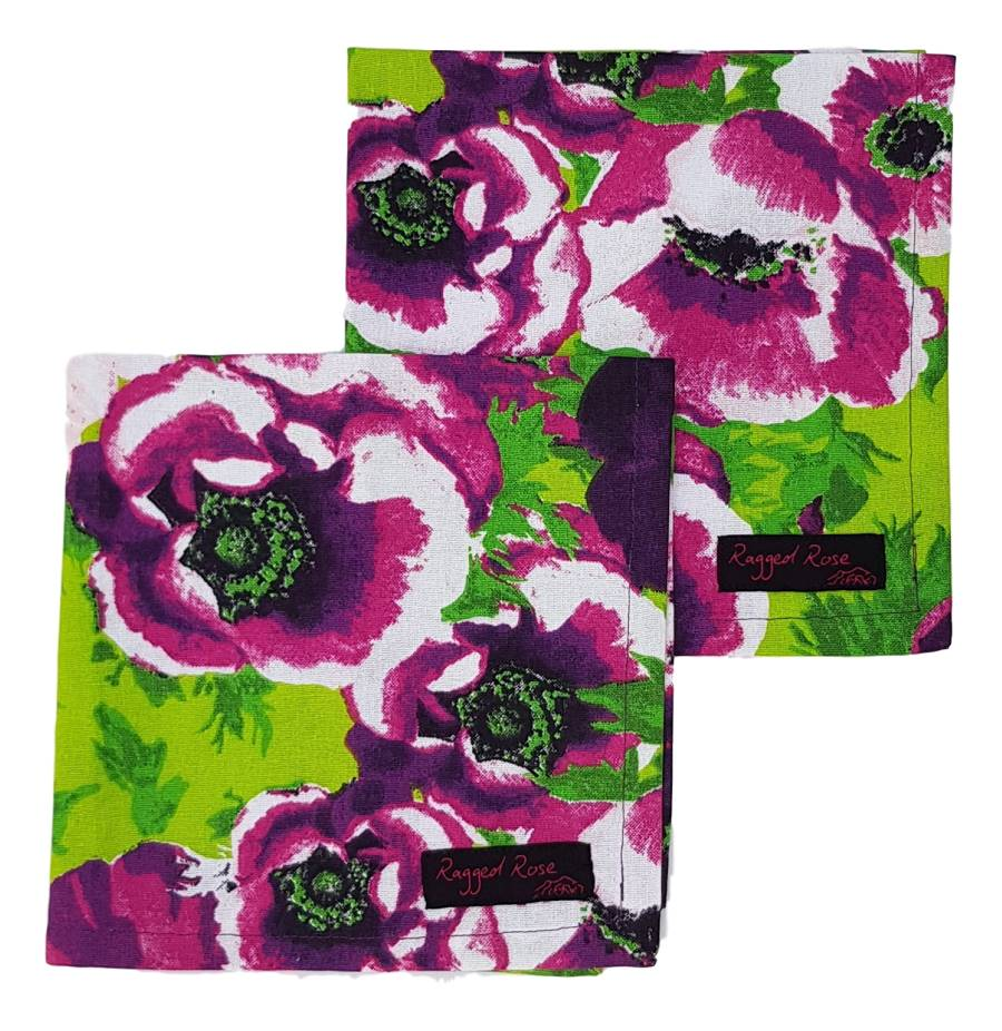 Purple Floral Napkins